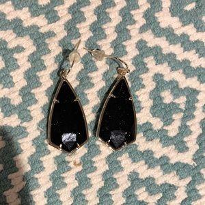 Kendra Scott blue goldstone drop earrings
